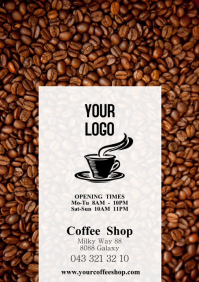 Coffee Shop Flyer opening Times Store Bar Pub