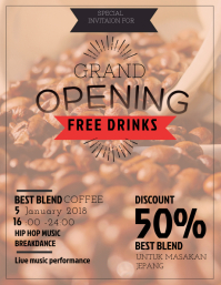 Coffee Shop Grand Opening Flyer Template