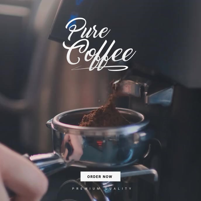 Coffee Shop Instagram Ad Albumcover template