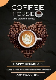 Coffee Shop Poster Template Design A4