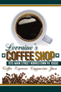 Customizable Design Templates For Coffee Shop Postermywall
