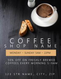 Coffee Shop Restaurant Flyer template