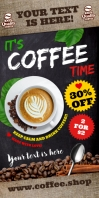 Coffee Shop Rollup Banner avvolgibile 3' × 6' template