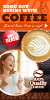 Coffee Shop Rollup Template