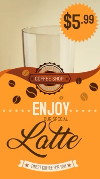 Coffee Shop TV Video Template