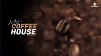 Coffee Shop Video Ad Pantalla Digital (16:9) template