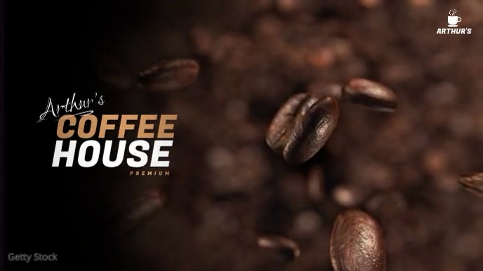 Coffee Shop Video Ad Digitale display (16:9) template