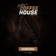 Coffee Shop Video Ad Album Cover template