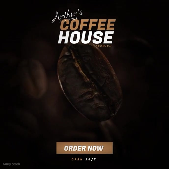 Coffee Shop Video Ad template