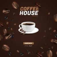 Coffee Shop Video Ad Albumcover template