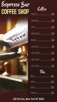 Coffee Shop Video Menu Template
