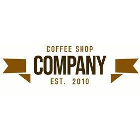 coffee shop vintage logo template