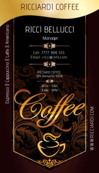 coffee shop6 Tarjeta de Presentación template