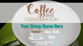 Coffee Talk Event Digital Display template