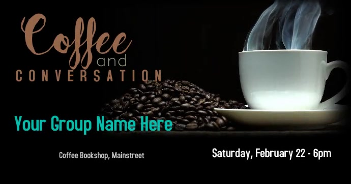 Coffee Talk Event Social Post Facebook Shared Image template