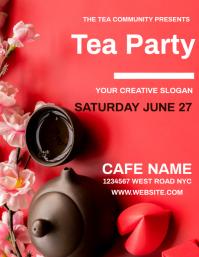 COFFEE TEA CAFE Flyer Template Folder (US Letter)