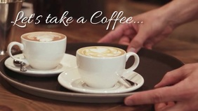 Coffee Time Break Offer Header Pause Bar Ad Facebook-omslagvideo (16:9) template