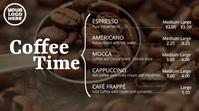Coffee Time Digital Signage Cafe Menu Display Цифровой дисплей (16 : 9) template