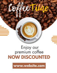 coffee time flyer template design