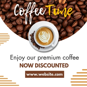 coffee time instagram post template advertise