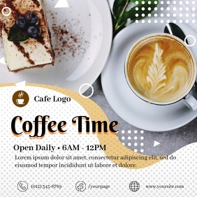 Coffee Time Social Media Post Template