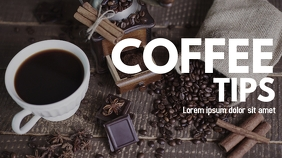 coffee tips youtube thumbnail design template