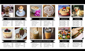 Coffee Trifold Back Flyer template US Legal