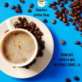 COFFEE VIDEO AD TEMPLATE