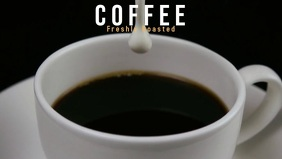 Coffee Video Facebook cover template