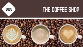 Coffee video flyer Digital Display (16:9) template