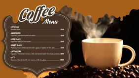 Coffee Video Menu Digital Display Template
