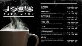 Coffee Video Menu Digital Display Template Цифровой дисплей (16 : 9)