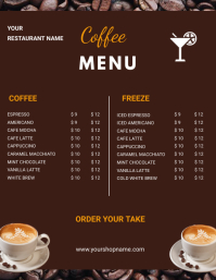 CoffeeMenu flyers template