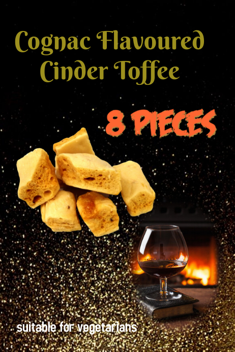 COGNAC FLAVOURED CINDER TOFFEE Poster template