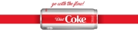 Coke Advertisement Website Banner template