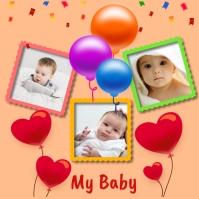 Collage,photograph,baby Sampul Album template