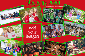 Collage - Red White Green Poster template