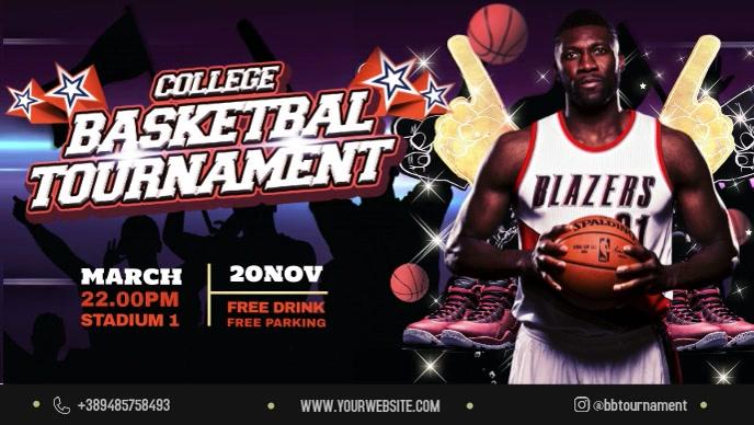 College Basketball Tournament Banner Video