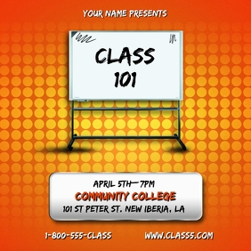 COLLEGE COURSE CLASS FLYER TEMPLATE