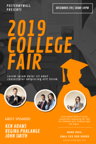 College Fair Flyer Design Template Poster