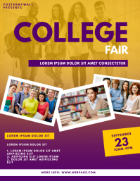 College Fair Flyer Design Template