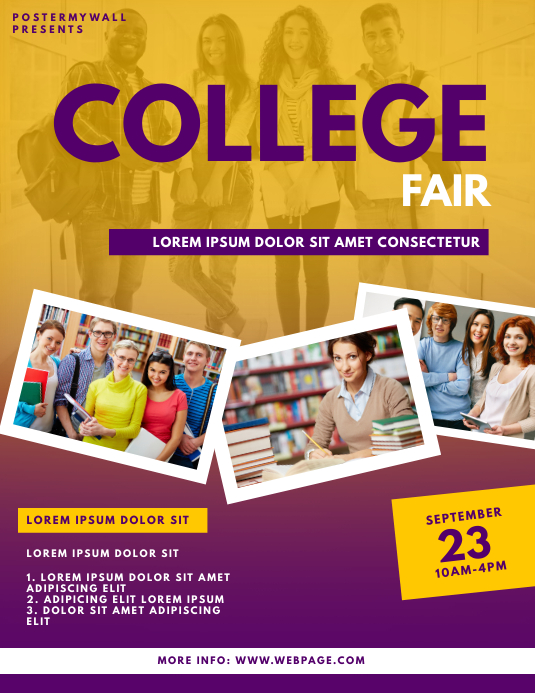 College Fair Flyer Design Template