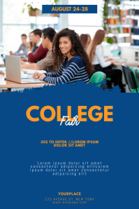 College Fair Flyer Template Poster