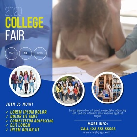 College Fair Instagram Post Design Template