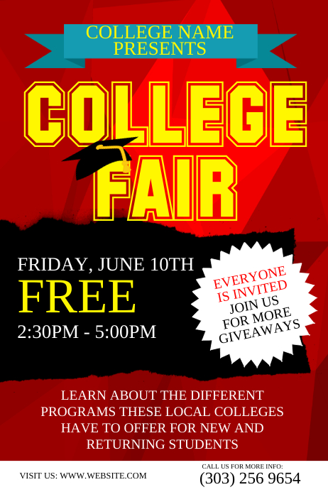 customizable design templates for college event postermywall