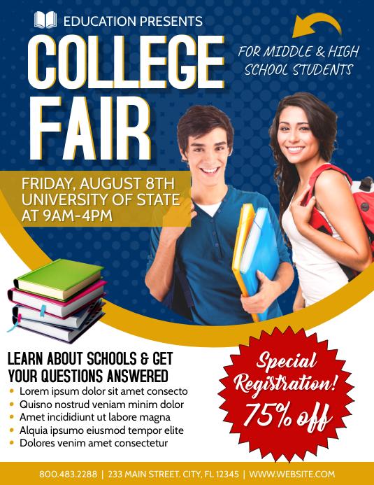 College Fair School Template