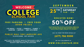 College Fun Fair Invitation Banner