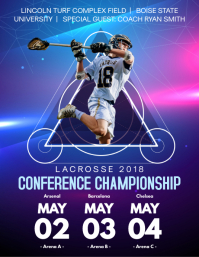 College Lacrosse Poster Schedule Template