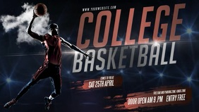 College March Madness Basketball Banner Video