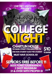 customizable design templates for college night postermywall